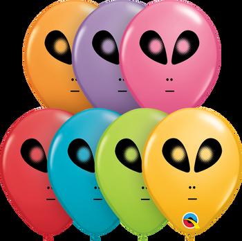 "5""Q Assorted, Space Alien Print (100 count)"