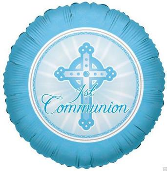 """18"""" 1st Communion, Blue"""