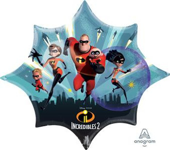 """35""""A Incredibles 2, Large Star (5 count)"""