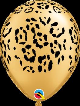 "11""Q Animal Leopard Spots Gold Print (50 count)"