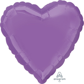 """18""""A Heart, Pastel Lilac(10 count)"""