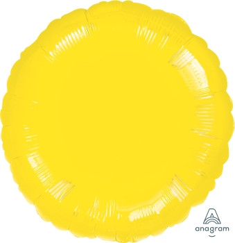 "18""A Circle/ Round, Yellow Bright Mylar (10 count)"