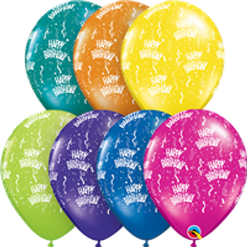 "11""Q Assorted Happy Birthday Fantasy Print (50 count)"