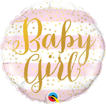 "18""Q Baby Girl Pink Stripes (5 count)"
