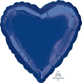 "18""A Heart Navy Blue (10 count)"