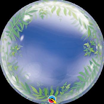 "24""Q Bubble Tropical Greenery"