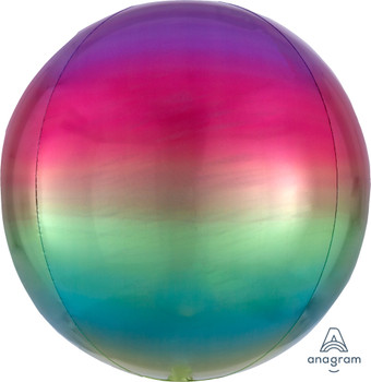 """16""""A Orbz, Ombre Rainbow (3 count)"""