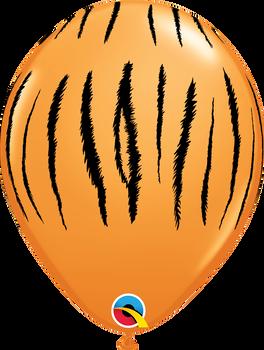 "11""Q Animal Tiger Orange w/ black print (50 count)"