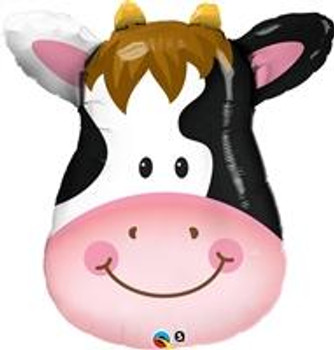 """14""""Q Animal Cow, Contented Head(10 count)"""