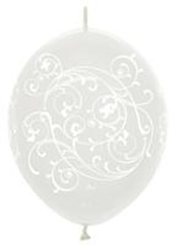 "12""B Linko loon Filigree Clear(50 count)"