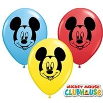 "5""Q Assorted, Mickey Mouse Head Print (100 count)"