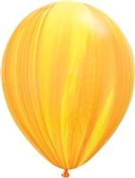 "11""Q Agate Yellow/ Orange Rainbow (25 count)"