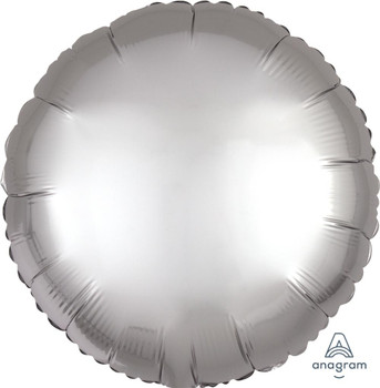"18""A Circle Satin Luxe Platinum Silver (10 count)"