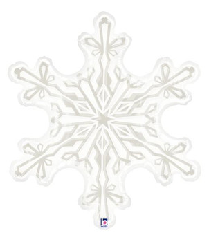 "38""B Snowflake Clear with print (1 count)"