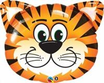 """14""""Q Animal Tiger, Tickled Head(10 count)"""