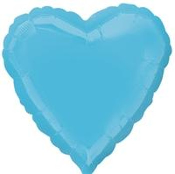 "18""A Heart, Caribbean Blue(10 count)"