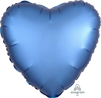 "18""A Heart Satin Luxe Azure (10 count)"