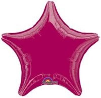 "19""A Star, Burgundy(10 count)"