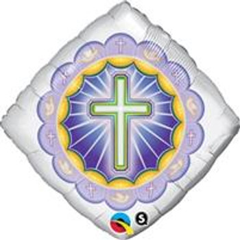 """18""""Q Cross, Religious Illuminated"""