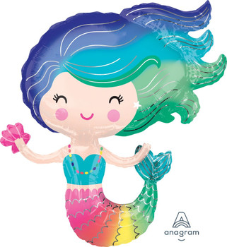 """30""""A Mermaid, Colorful (5 count)"""