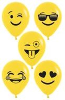 "5""B Assorted Emoji Face Print(100 count)"