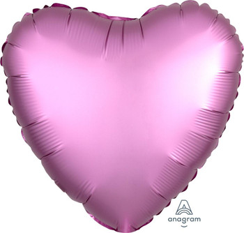 "18""A Heart Satin Luxe Flamingo (10 count)"