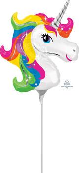 """14""""A Unicorn, Rainbow Head (10 count)"""