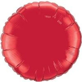 "4""Q Circle Ruby Red (10 count)"
