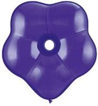 """16""""Q Geo Blossom Quartz Purple(25 count)"""