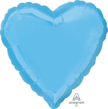 """18""""A Heart, Pale Blue (10 count)"""