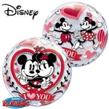 "22""Q Bubble, Minnie/ Mickey Vintage ""I Love You""(1 count)"