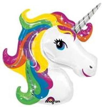 """33""""A Unicorn, Rainbow Head (5 count)"""