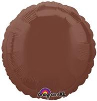 "18""A Circle/ Round, Brown Chocolate Mylar(10 count)"