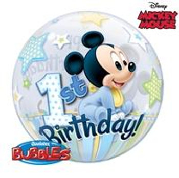 "22""Q Bubble, Mickey Mouse 1st Birthday (1 count)"