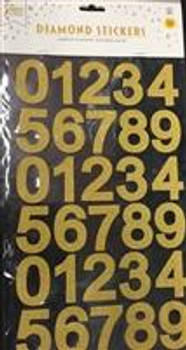 Stickers, Numbers Gold(1 count)