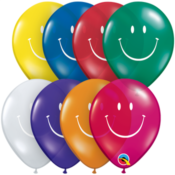 "5""Q Assorted, Smile Face Print (100 count)"