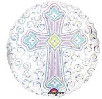 """18""""A Cross, Religious Radiant Holo.(10 count)"""