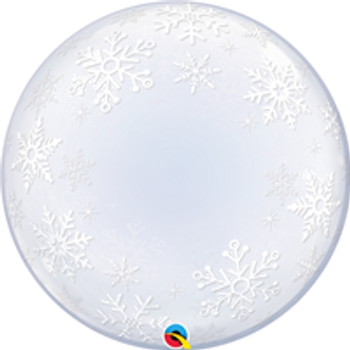 "24""Q Deco Bubble, Snowflakes (1)"