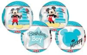 "15""A Orbz, Mickey Mouse 1st Birthday (1 count)"