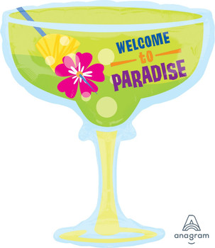 """28""""A Margarita Glass, Welcome To Paradise"""