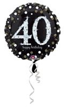 """28""""A Happy Birthday Sparkling 40th(5 count)"""