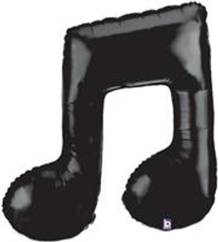 """40""""B Music Note, Double Black (5 count)"""