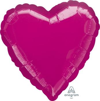 """18""""A Heart Fuchsia (10 count)"""