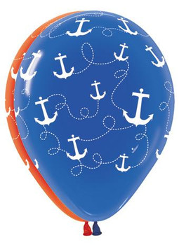 "11""B Anchors Away Nautical Print (50 count)"