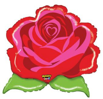 """29""""B Flower Mighty Bright Red Rose (1 count)"""