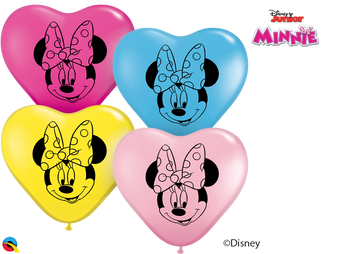 "6""Q Minnie Mouse,Heart Head Print (100 count)"