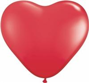 "6""Q Heart Red (100 count)"
