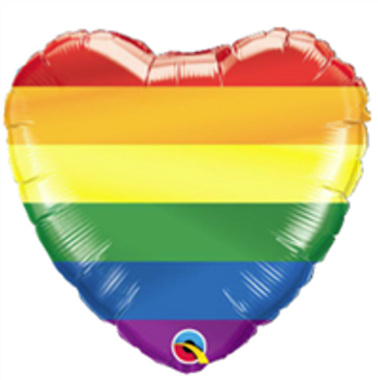 "18""Q Rainbow Stripes(10 count)"