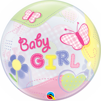 "22""Q Bubble, Baby Girl (Butterflies)(1 count)"