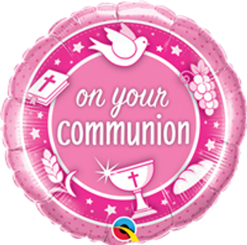 """18""""Q Communion On Your Pink(10 count)"""